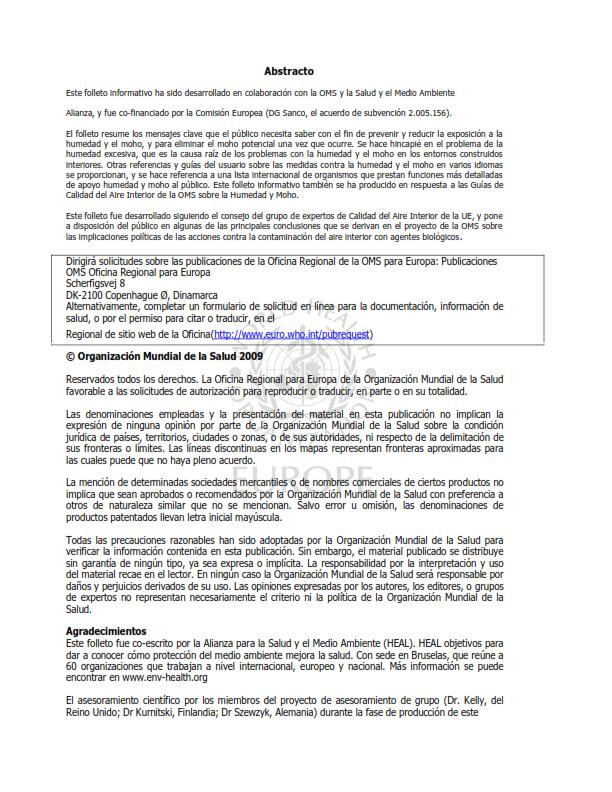 OMS;CALIDAD AMBIENTAL DEL AIRE INTERIOR;  HUMEDAD Y MOHO SOLO ESPAÑOL_002