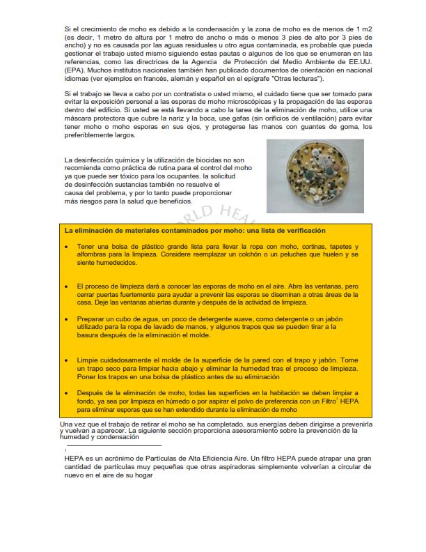 OMS;CALIDAD AMBIENTAL DEL AIRE INTERIOR;  HUMEDAD Y MOHO SOLO ESPAÑOL_005