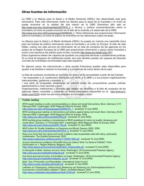 OMS;CALIDAD AMBIENTAL DEL AIRE INTERIOR;  HUMEDAD Y MOHO SOLO ESPAÑOL_008